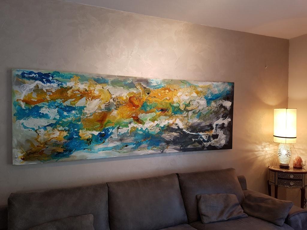ציור, ציורים לסלון, תמונה לסלון, ציורי אבסטרקט