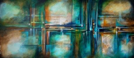 ציור בסגנון חדשני , לכל אוהבי הצורות הגאומטריות, הציור מצויר בעשרות שכבות דקות ושקופות . מומלץ,,