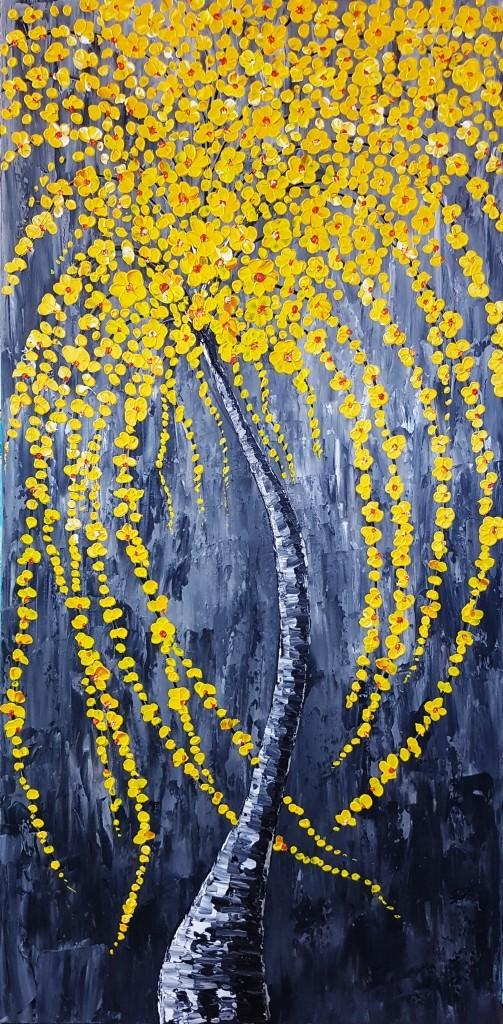 ציור גדול לסלון, צבעונ י, ציורים למשרד, ציורי אוירה, ריבה יחזקאל, ציורים