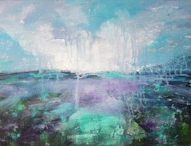 ציור ים, ריבה יחזקאל, ציורים לסלון, תמונות לסלון, sea scape, abstrect painting