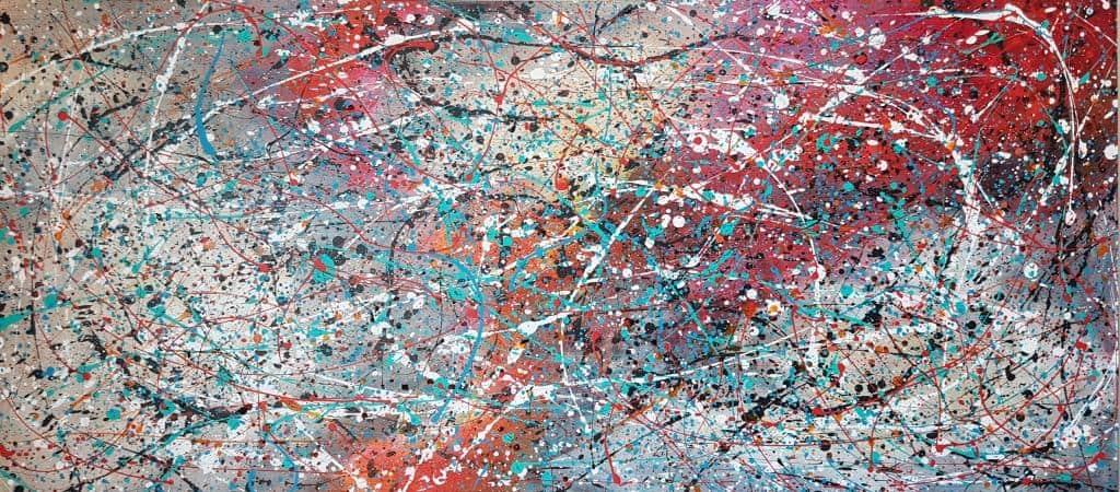 תמונות לסלון, ציורים לסלון, ציור אבסטרקט, ריבה יחזקאל, abstract paintings, jackson pollok
