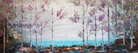 ציורים לסלון, תמונות לסלון, ציור היער הכסוף, ריבה יחזקאל, abstract painting, floral art, abstract art, seascap painting, ציור ים