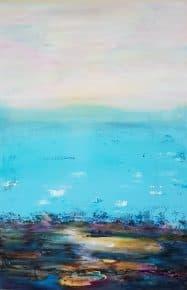 ציור ים, ציורים לסלון, תמונות לסלון, ציורי אוירה, ריבה יחזקאל, abstract painting, abstract art, ציורי אבסטרקט